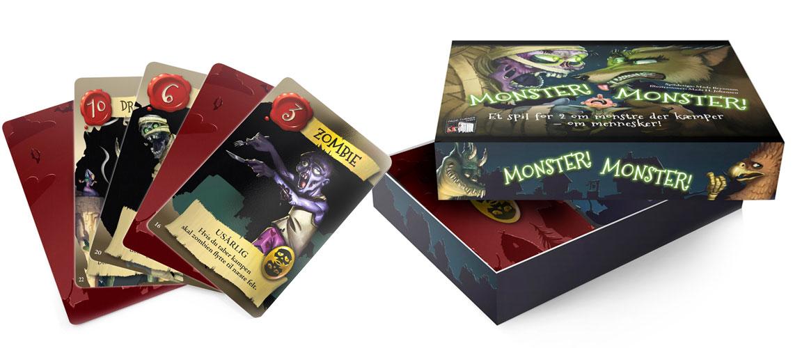 Monster! Monster! - Brætspil (Dansk)