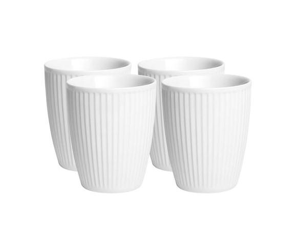 Pillivuyt - Plissé Cup 4 Of 25 cl - White ( 914225S4)