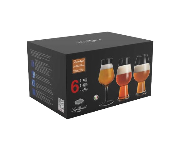 Luigi Bormioli -  Birrateque Beer Glass Set Ale & Hvede