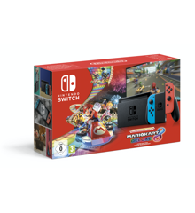 Nintendo Switch Console with Neon Red & Neon Blue Joy-Con (Upgraded Version) Mario Kart 8 Deluxe