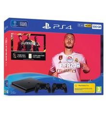 Playstation 4 500GB 2x Dualshock Controller (FIFA 20 Bundle) (Broken Box)