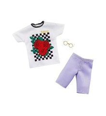 Barbie - Ken Clothes - T-shirt, Shorts and Glasses (GHX47)