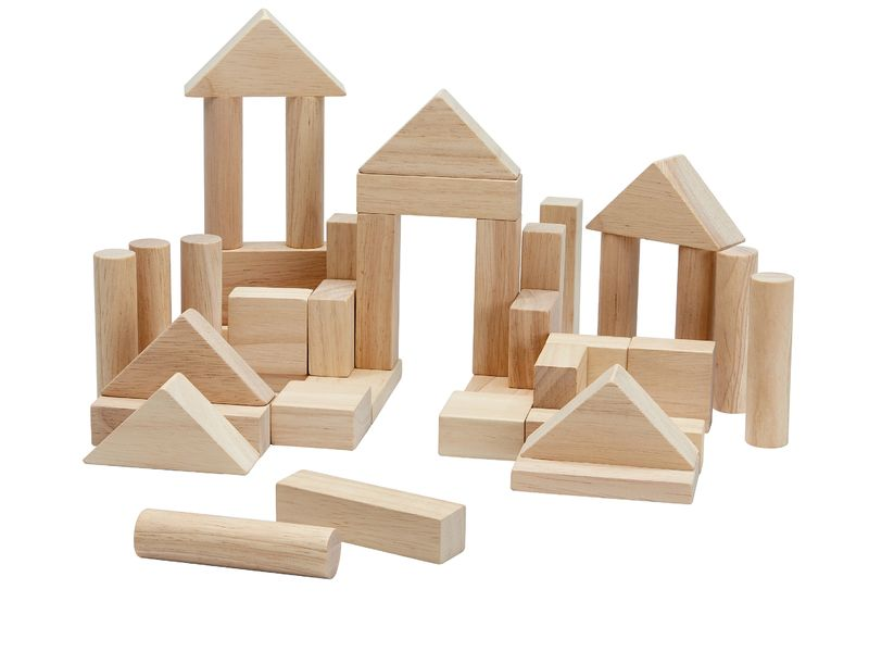 Plantoys - 40 Wooden block, Nature (5512)