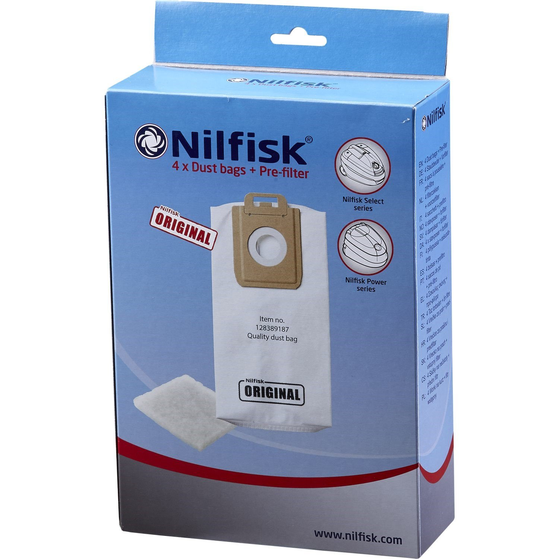 Nilfisk - Select Vacuum Bags 4 Pcs