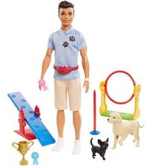 Barbie - Ken Hundetræner (GJM34)
