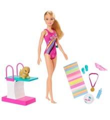 Barbie - Dreamhouse Adventures - Svømme Dukke (GHK23)