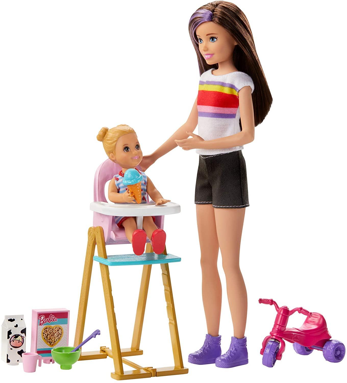 Barbie - Babysitter Playset - Feeding Fun (GHV87)