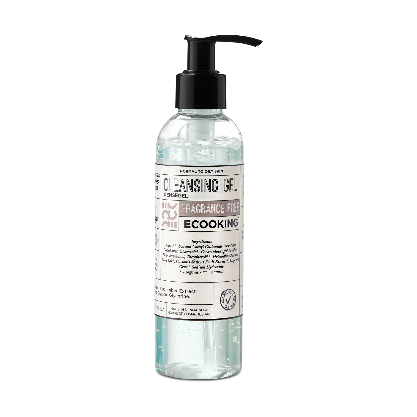 Ecooking - Cleansing Gel Fragrance Free 200 ml