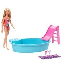 Barbie - Dukke og Pool Legesæt (GHL91)
