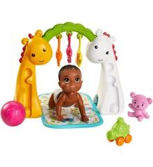 Barbie - Babysitter - Baby og Aktivitetsatstiv (GHV85)