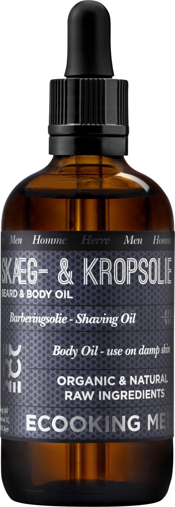 Ecooking - Men Skæg- & Kropsolie 100 ml