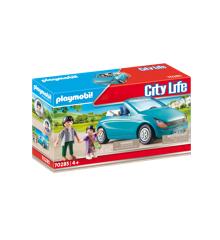 Playmobil - Far og barn med cabriolet (70285)