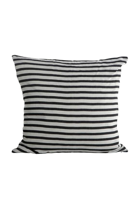 House Doctor - Stripe Pudebetræk 50 x 50 cm - Sort/Hvid