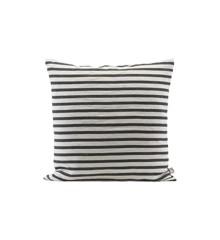 House Doctor - Stripe Pudebetræk 60 x 60 cm - Sort/Hvid