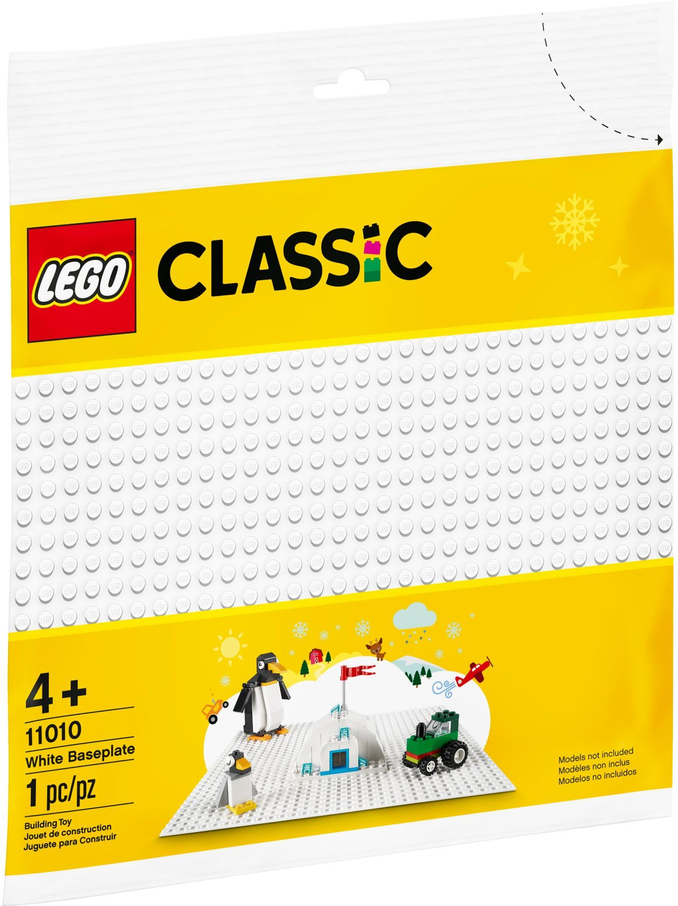 LEGO Classic - Hvid Byggeplade (11010)
