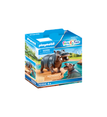 Playmobil - Flodhest med kalv (70354)
