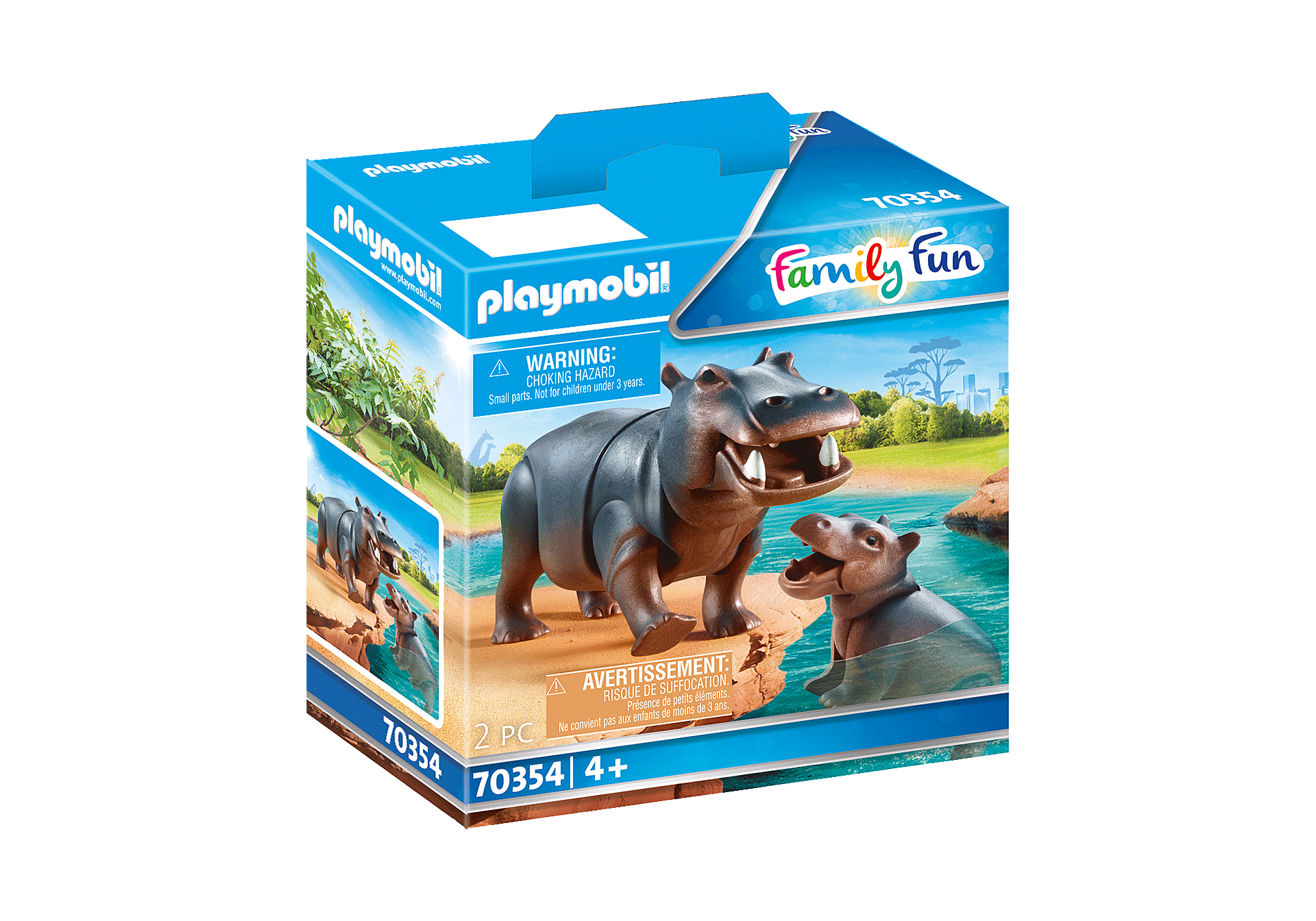 Playmobil - Hippo with Calf (70354)