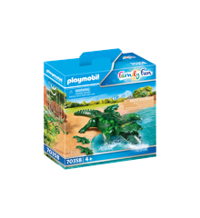 Playmobil - Alligator med baby (70358)