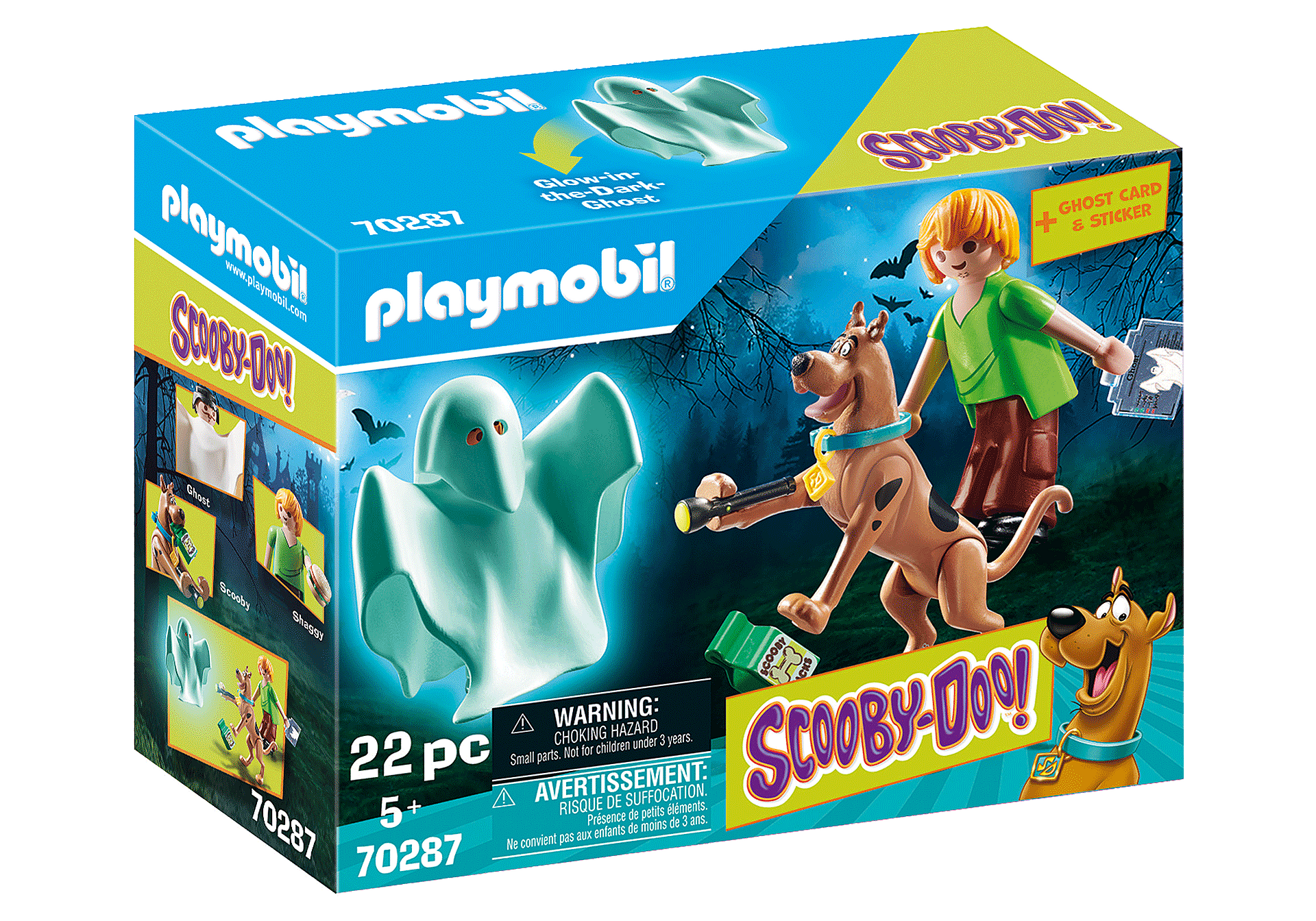 Playmobil - Scooby-Doo - Scooby & Shaggy with Ghost (70287)