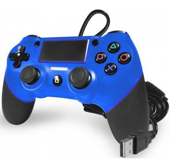 TTX Playstation 4 Champion Wired Controller Blue