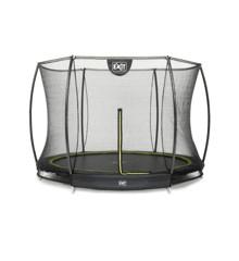 EXIT - Silhouette In Ground Trampoline Ø 244 cm w/Safety Net - Black (12.95.08.00)