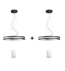 Philips Hue - 2xBeing Pendant Lamp Black   (2xDimmer Switch Included) - Bundle