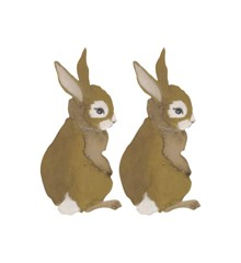 That's Mine - Wall Sticker Hare Baby 2 pcs - Golden Brown (O8093)