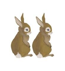 That's Mine - Wall Sticker Hare Baby 2 Stk - Gylden Brun