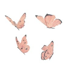 That's Mine - Wall Sticker Butterflies 4 pcs - Rose (O8058)