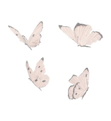 That's Mine - Wall Sticker Butterflies 4 pcs - White (O8060)