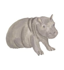 That's Mine - Wall Sticker Hippo Baby - Grey (O8089)