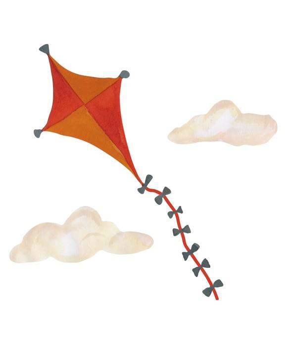 That's Mine - Wall Sticker Kite Small - Orange (O8080)