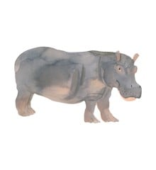 That's Mine - Wall Sticker Hippo - Grey (O8072)