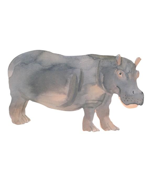 That's Mine - Wall Sticker Hippo - Grey (O8072)
