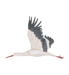 That's Mine - Wall Sticker Stork Large - White (O8068)