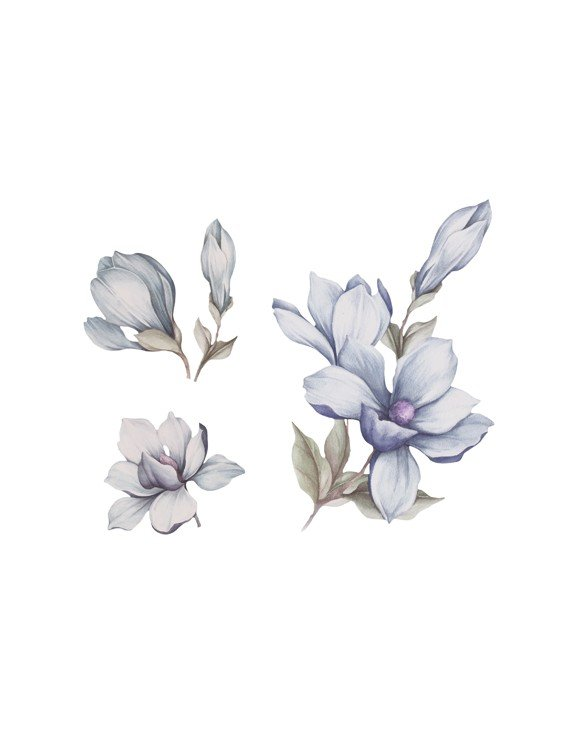 That's Mine - Wall Sticker Magnolia - Blue (O8048B)