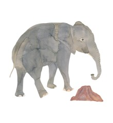That's Mine - Wall Sticker Elefant - Grå