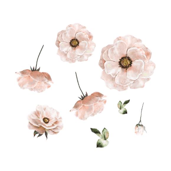 That's Mine - Wall Sticker Poppy - Rose (O8047R)