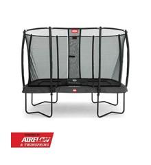 BERG - Ultim Champion Regular 330 x 220 cm Trampoline + Safety Net Deluxe - Grey (32.35.73.31)