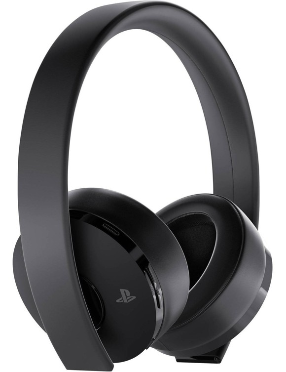 PS4 New Official Sony Gold Wireless Headset 7.1 + Fortnite Bundle