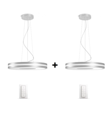 Philips Hue - 2xBeing Pendant Lamp Silver   (2xDimmer Switch Included) - Bundle