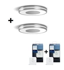 Philips Hue - 2xBeing Ceiling - Silver + 2x Motion Sensor - Bundle