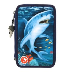 Dino World - Triple Pencil Case With LED - Underwater (0411026)