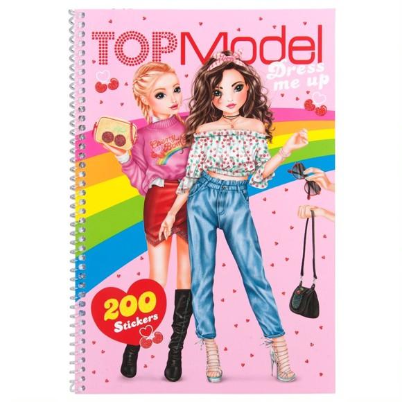 Top Model - Dress Me Up Malebog med Klistermærker - Cherry Bomb