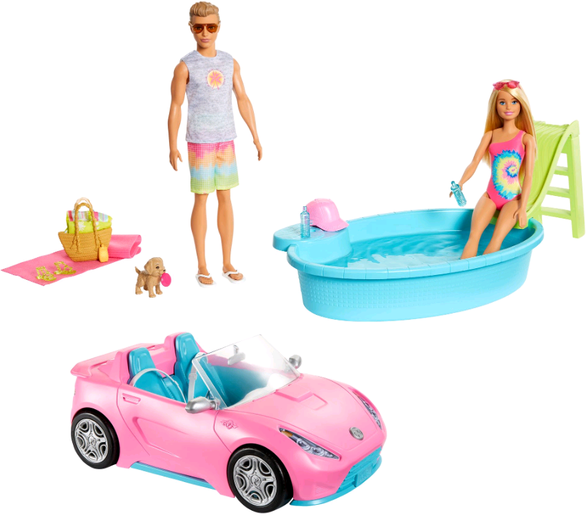 Barbie - Dolls, Vehicle and Accessories (GJB71)