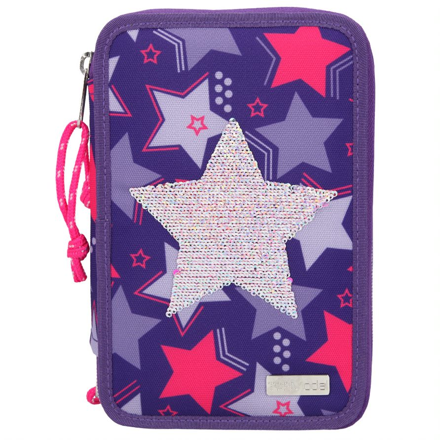 Top Model - Triple Pencil Case Rev. Sequins - Star (410660)