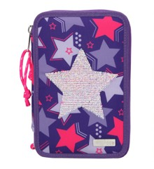 Top Model - Triple Pencil Case Rev. Sequins - Star (410660)