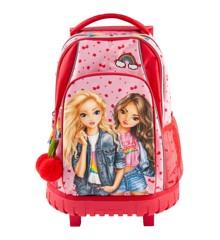 Top Model - Skolerygsæk m/Trolley - Cherry Bomb