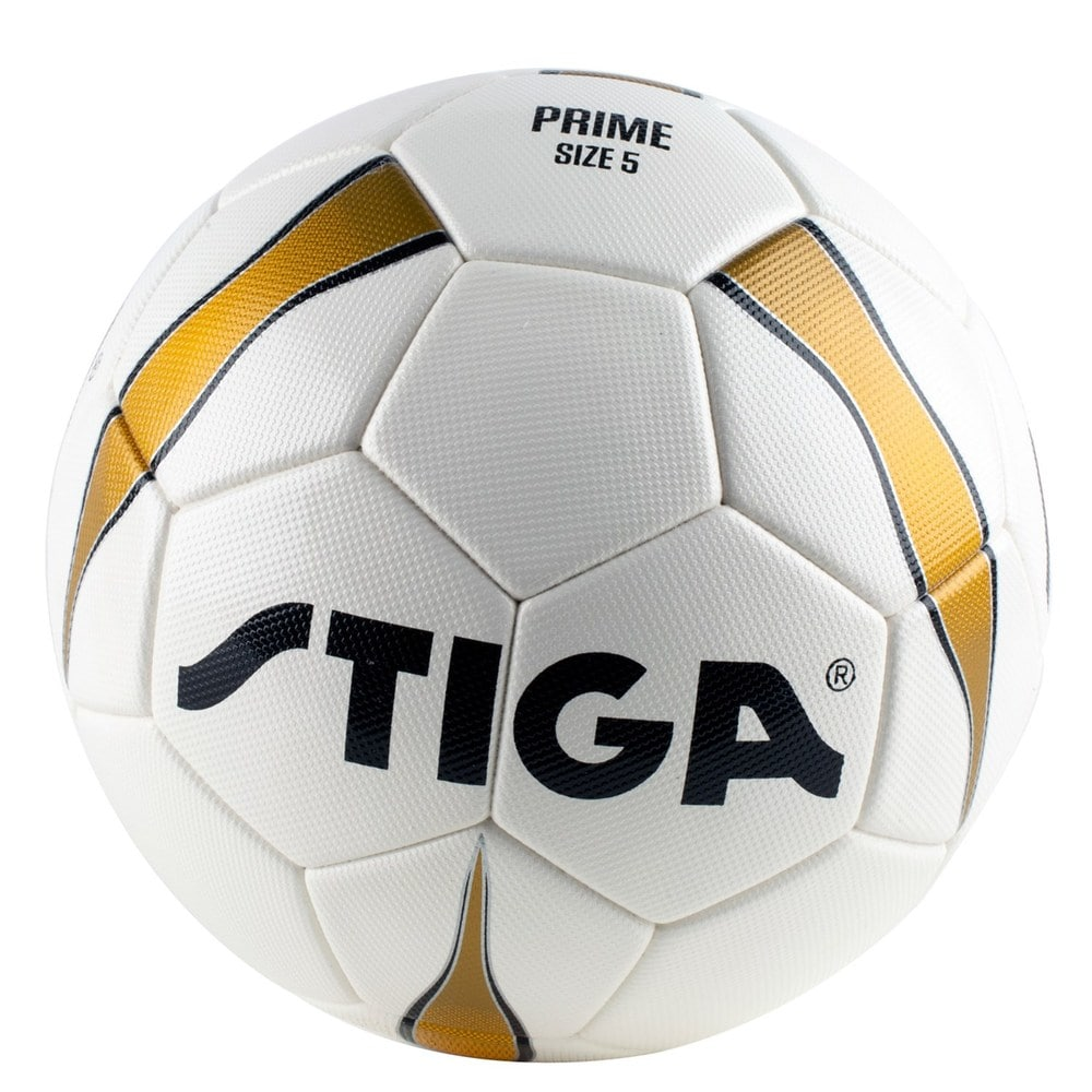 Stiga - Football Prime Match Ball size 5- White/Gold (84-2727-05)