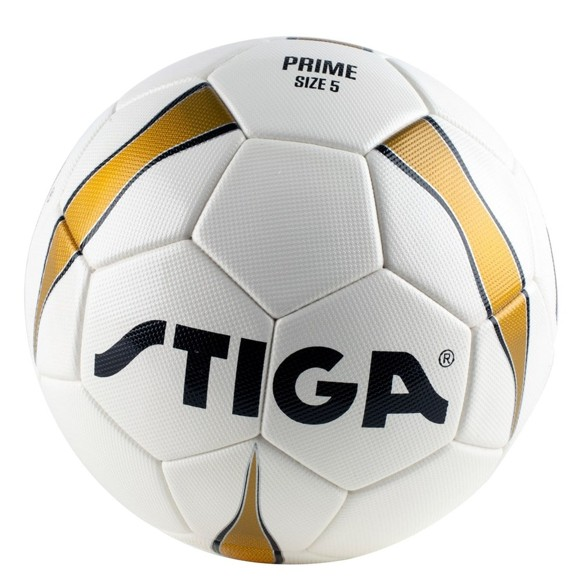 Stiga - Football Prime Match Ball size 5- White/Gold (84-2727-05)